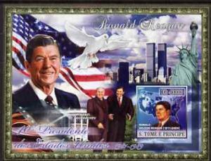 St Thomas & Prince Islands 2007 US Presidents #40 Ron...