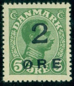 FAROE ISLANDS #1 (3) 45ore Surcharge, og, NH, XF, pristine, scarce, Moller cert