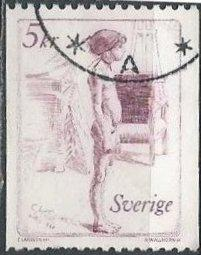 Sweden 1400 (used) 5k Graziella, by Carl Larsson (1982)