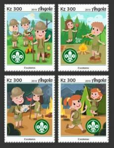 Z08 IMPERF ANG190105a ANGOLA 2019 Scouts MNH ** Postfrisch