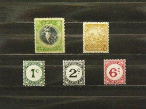 5434   Barbados   Used # 141, 193A, J4, J5, J6                 CV$ 4.80