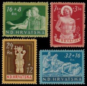 ✔️ CROATIA 1944 - WWII VICTIMS - SC. B56/B59 ** MNH OG [CR154]