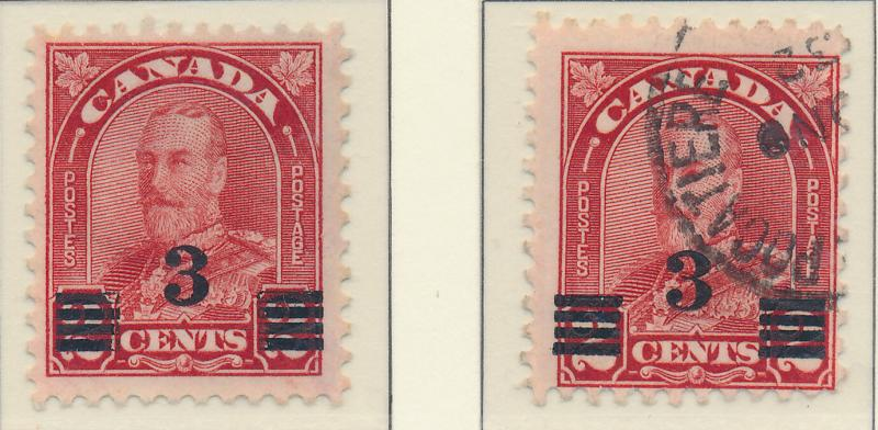 Canada Stamp Scott #191 and 191a, Used/No Gum - Free U.S. Shipping, Free Worl...