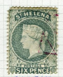 ST. HELENA; 1884-94 early classic QV issue fine used 6d.