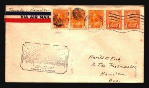 Canada 1929 FFC Toronto to Hamilton - Z17394