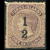 TURKS IS. 1881 - Scott# 15 Queen Set of 1 NH no gum