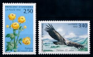 [69602] French Andorra 1992 Flora Flowers Bird Vulture  MNH