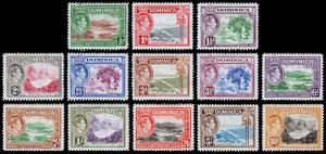 Dominica Scott 97-106, 108-110 (1938-47) Mint H F-VF CV $34.60 M