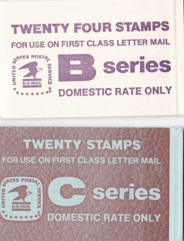 7 US STAMP BOOKLETS AS SHOWN UNMOUNTED MINT