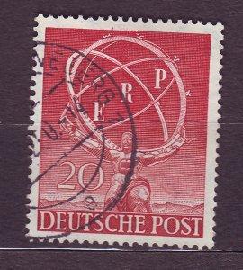 J23177 JLstamps 1950 berlin germany set of 1 used #9n68 staue of atlas