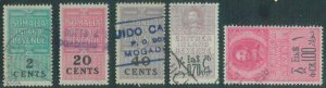 88776 - ERITREA / SOMALIA - Small lot of REVENUE STAMPS - USED
