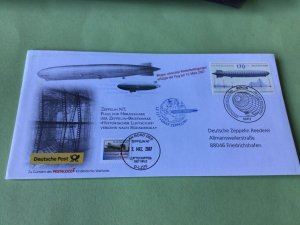 Germany Zeppelin Airship  Cancel  Stamps Cover Ref 52287