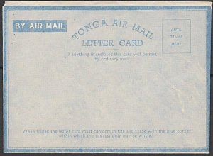 TONGA 1940s Official aerogramme / letter card unused........................K854