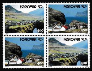 Faroe Is. Nordic Countries Postal Co-operation 1993 2v Block of 4 SG#239-240