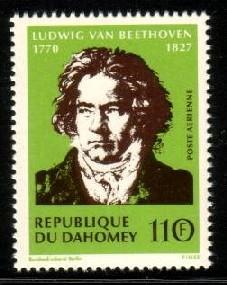 Bicent Birth Ludwig Beethoven Composer, Dahomey SC#C130 MNH