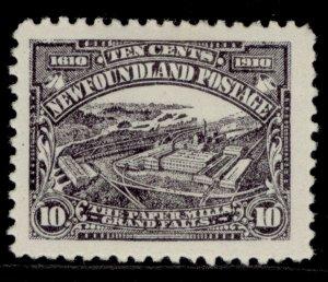 CANADA - Newfoundland EDVII SG103, 10c purple-slate, M MINT. Cat £75. PERF 12