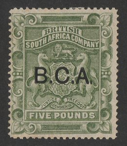 BRITISH CENTRAL AFRICA : 1891 BCA on Arms £5. RARE GENUINE!