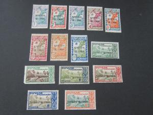French Guiana 1932 Sc 1-8,10-13,15,17 MH