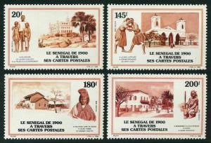 Senegal 794-797,MNH.Mi 992-995. Postcards,1990.Boys,Government Palace;Wrestlers