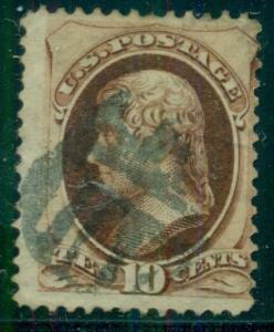 10¢ Banknote, black shield, scarce on 10¢ fancy cancel