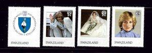 Swaziland 406-09 MNH 1982 Princess Diana 21st Birthday