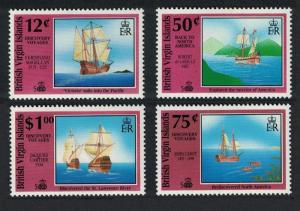 BVI 500th Anniversary 1992 of Discovery of America by Columbus 4v SG#793-796