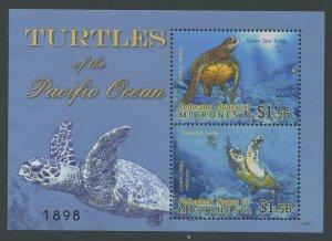 Micronesia 2009 Turtles S/S Sc# 854 NH