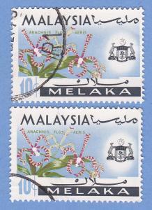 Malaysia-Malacca 71 Used - Arachnis Flosaeris