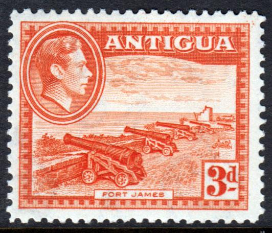 Antigua KGVI 1938 3d Orange SG103 Mint Hinged