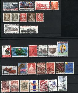 Denmark 50 different used PD