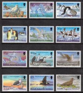 BRITISH ANTARCTIC 1998 Antarctic Birds; Scott 263-74, SG 290-301; MNH