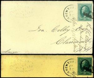 1872 Newburyport Mass Cds, J B CREASEY PAINTS OILS & GLASS, Adv Cover to NH #147
