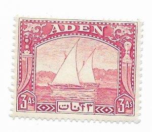 Aden #6 MH - Stamp - CAT VALUE $12.00