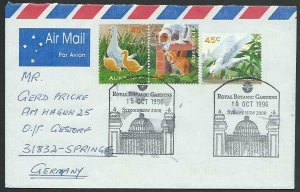 AUSTRALIA 1996 cover to Germany - nice franking - Sydney pictorial pmk.....14780