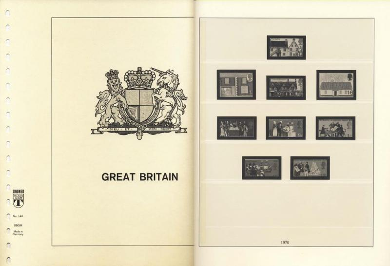 Great Britain 1970-80 Lindner Hingeless Stamp Album Pages