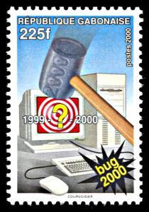 Gabon 985, MNH, Y2K Computer Bug