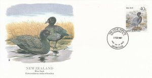 ORP009) FDC 1987 New Zealand, Blue Duck, Flora & Fauna of the World