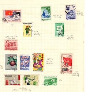13 Vietnam used stamps collection hinged pre-1980