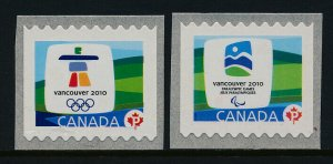 Canada 2306-7 MNH Winter Olympics, Emblems