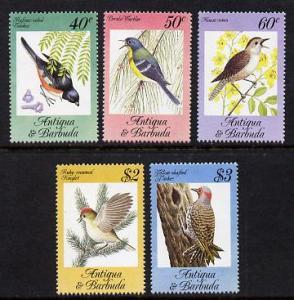 Antigua 1984 Songbirds set of 5 unmounted mint, SG 869-73