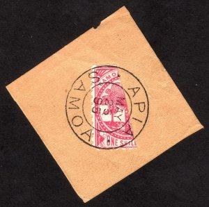 1886, Samoa 1/2S, Used, Sc 18a, Cv $375