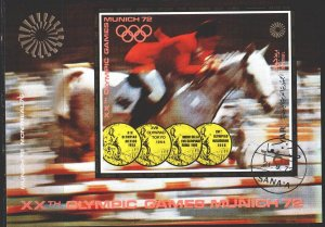 Yemen. 1971. bl176. Munich Summer Olympics. USED.