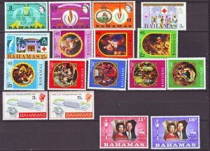 J22143 Jlstamps various 1960,s-70,s bahamas sets mnh/mh #269-up
