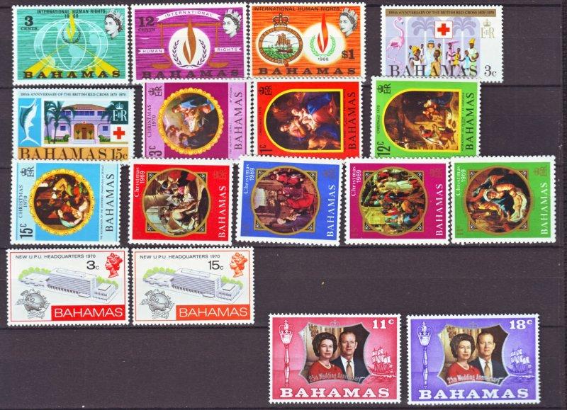 J22143 Jlstamps various 1960,s-70,s bahamas sets mnh/mh #269-up