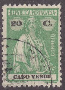 Cape Verde 165 Used 1914 Ceres
