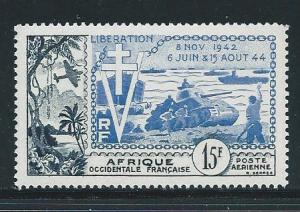 French West Africa C17 1954 10th Liberation single MNH