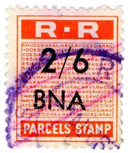 (I.B) Rhodesia Railways : Parcels Stamp 2/6d (Bindura)