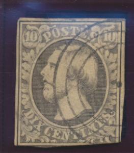 Luxembourg Stamp Scott #1, Used - Free U.S. Shipping, Free Worldwide Shipping...