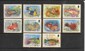 FISH - COOK ISLANDS #1154-73 (SHORT SET)  MNH