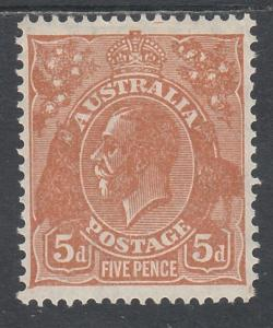 AUSTRALIA 1931 KGV 5D C OF A WMK